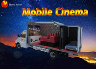 Flexible Mobile Movie Theater Truck / Cabin 5D Simulator With Metal Screen