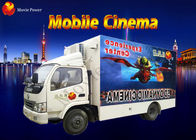 Interactive 3 DOF / 6 DOF Electric Platform Mobile 7D Cinema With Attack Gun