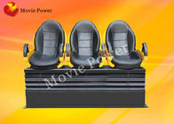Digital Spray Air / Water Electric Motion Theater Seats Genuine Leather + Fberglass