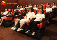 High Profit Red White Movement Chair 12 Special Effects 4D Mobile Truck Cinema
